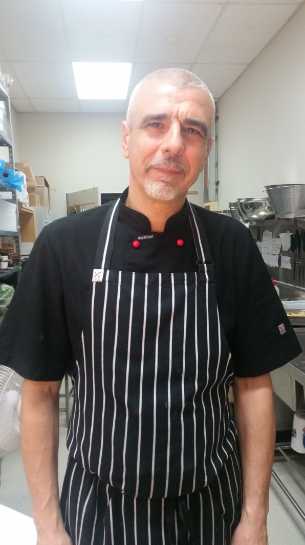 Behind the scenes shot of our Chef Salvatore